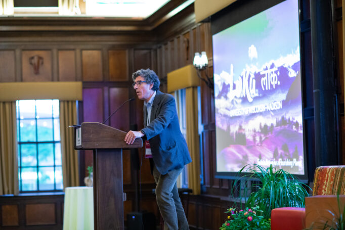 Dr. Richard Davidson presenting at the first Loka Initiative.