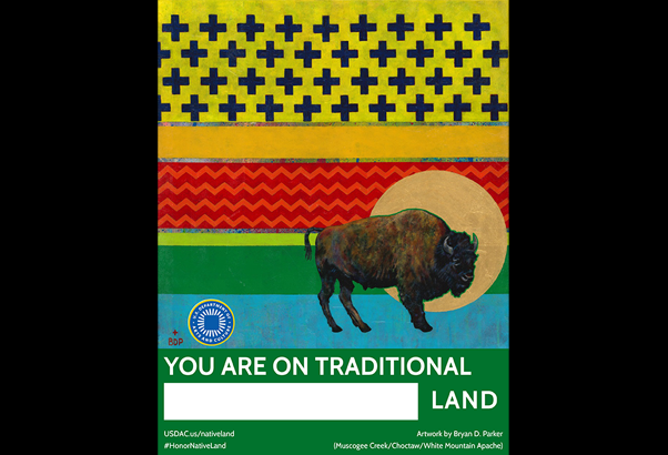 Honor Native Land poster from USDAC.