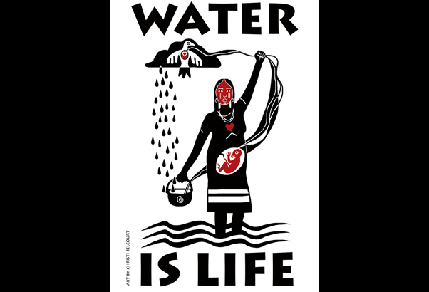 Onaman Collective art, Water Is Life.