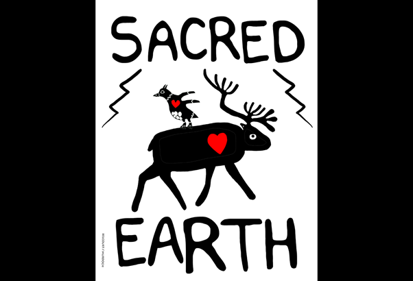 Onaman Collective art, Sacred Earth.